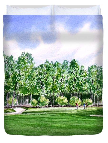 Pinehurst Golf Course 17TH Hole Duvet Cover by Bill Holkham