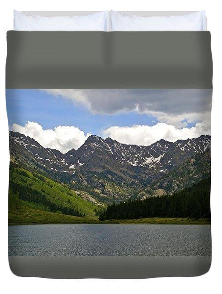 Piney Lake Vail Colorado Duvet Cover by Kristina Deane