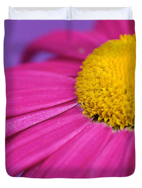 Pink And Purple Smile Duvet Cover by Lisa Knechtel
