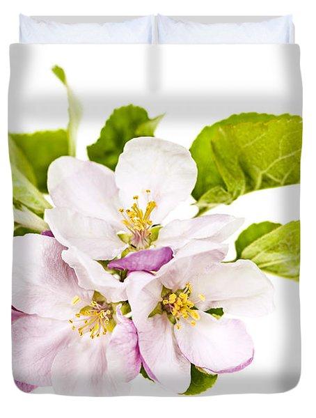 Pink apple blossoms Duvet Cover by Elena Elisseeva