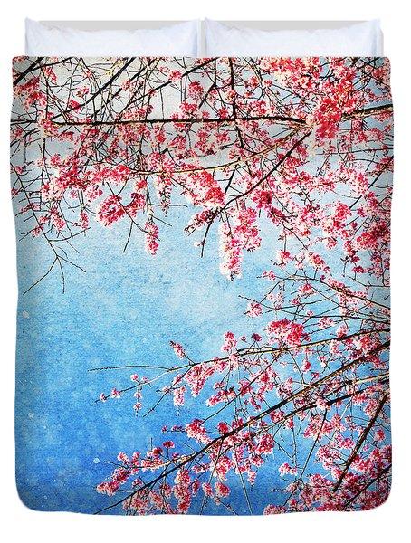 Pink Blossom Duvet Cover by Setsiri Silapasuwanchai