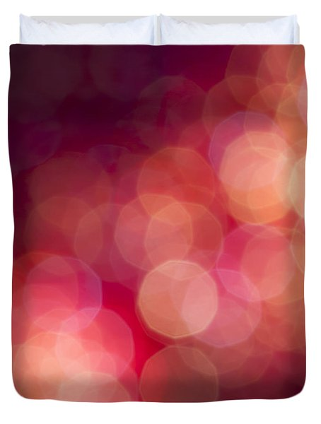 Pink Champagne Duvet Cover by Jan Bickerton