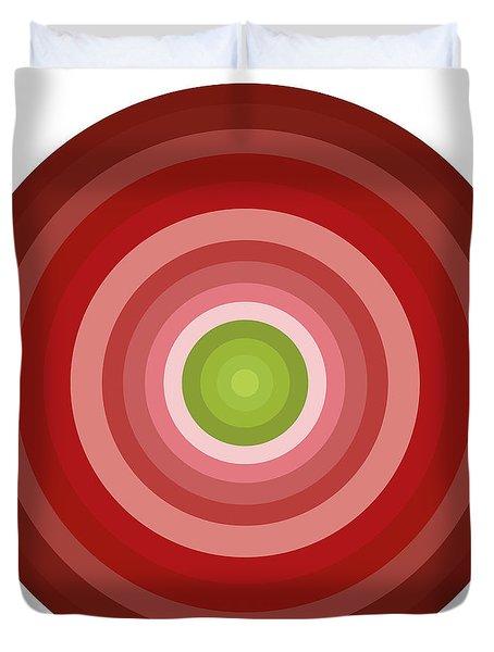 Pink Circles Duvet Cover by Frank Tschakert