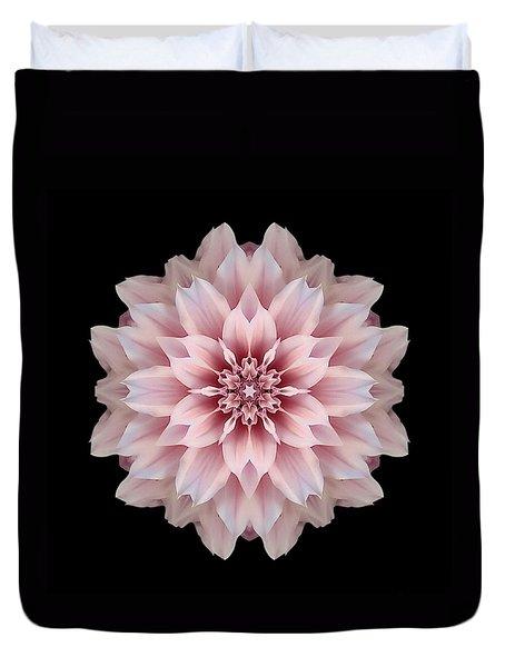 Pink Dahlia Flower Mandala Duvet Cover by David J Bookbinder
