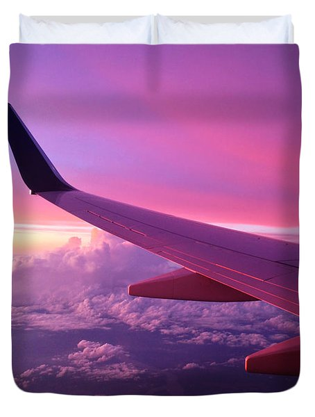 Pink Flight Duvet Cover by Chad Dutson