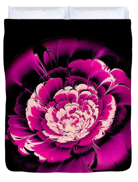 Pink Flower Duvet Cover by Anastasiya Malakhova