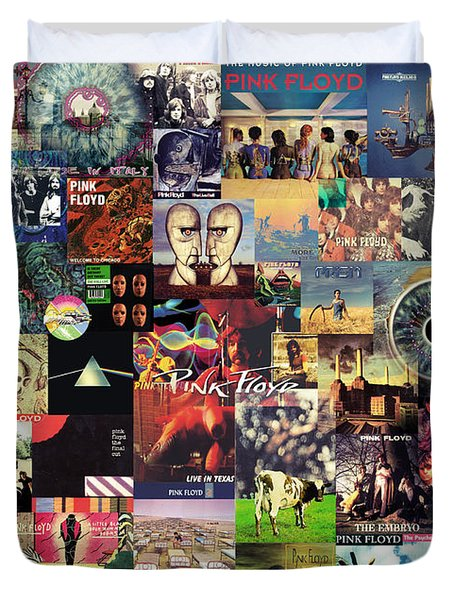 Pink Floyd Collage II Duvet Cover by Taylan Soyturk