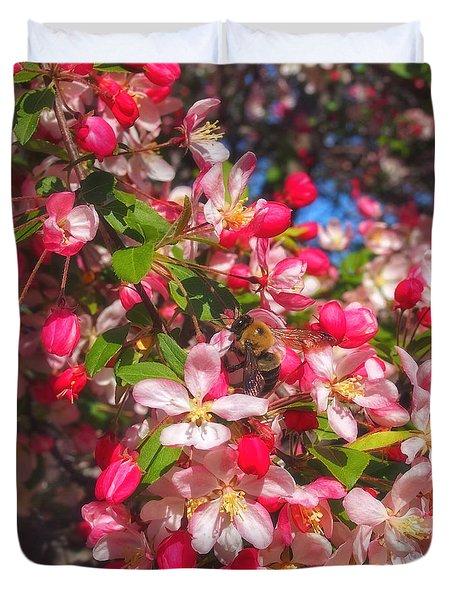Pink Magnolia 2 Duvet Cover by Joann Vitali