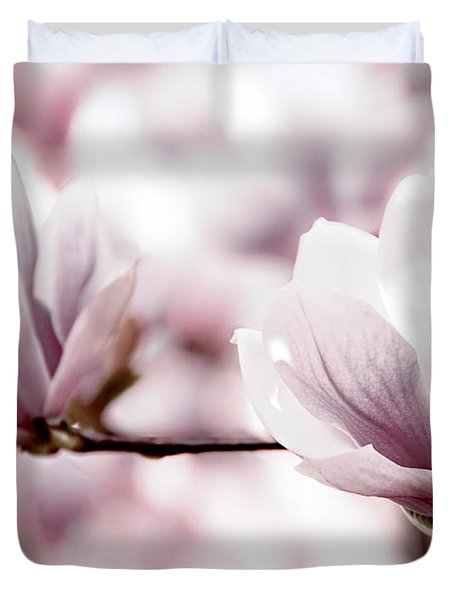 Pink Magnolia Duvet Cover by Elena Elisseeva