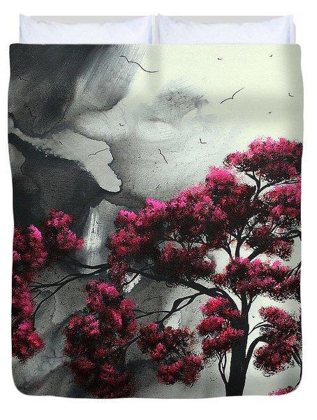Pink Passion Original Painting MADART Duvet Cover by Megan Duncanson