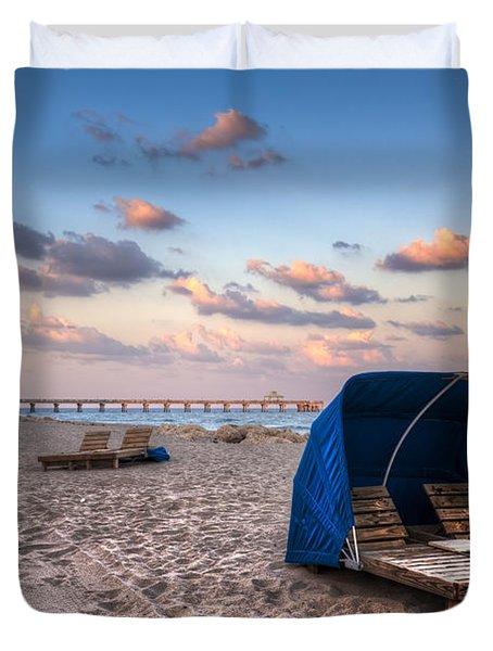 Pink Sands Duvet Cover by Debra and Dave Vanderlaan