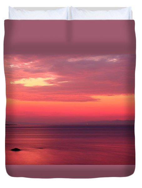 Pink Sunrise  Duvet Cover by Leyla Ismet