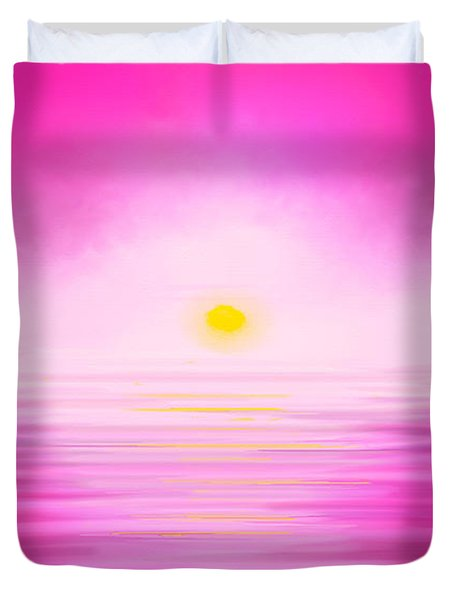 Pink Sunset Duvet Cover by Anita Lewis