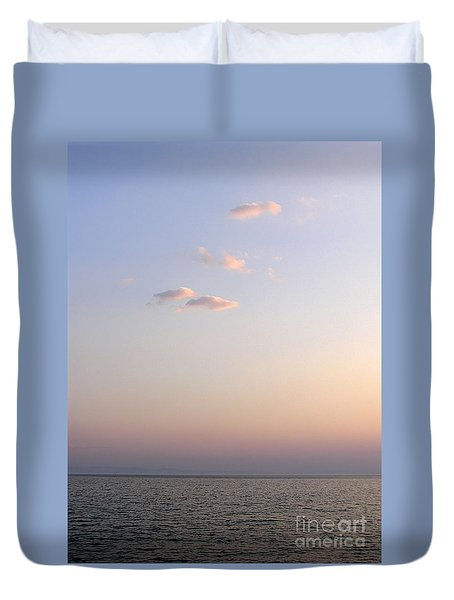 Pink Sunset Duvet Cover by Zoran Berdjan