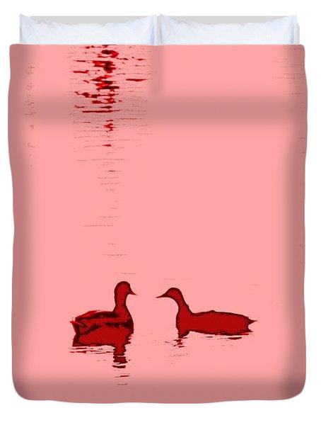 Pink Water Duvet Cover by Hilde Widerberg