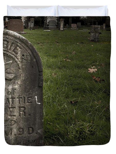 Pioneer Grave Duvet Cover by Jean Noren
