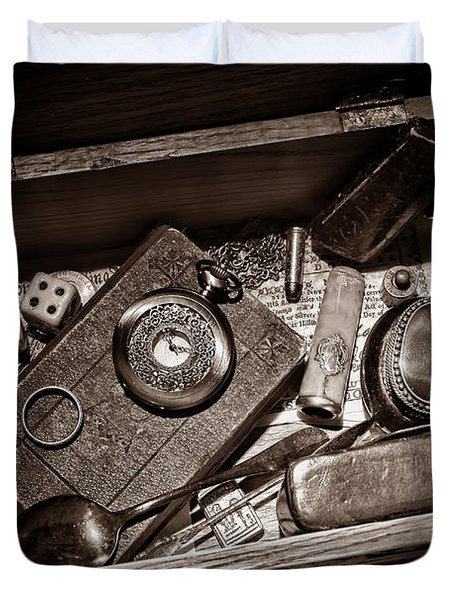 Pioneer Keepsake Box Duvet Cover by American West Legend By Olivier Le Queinec