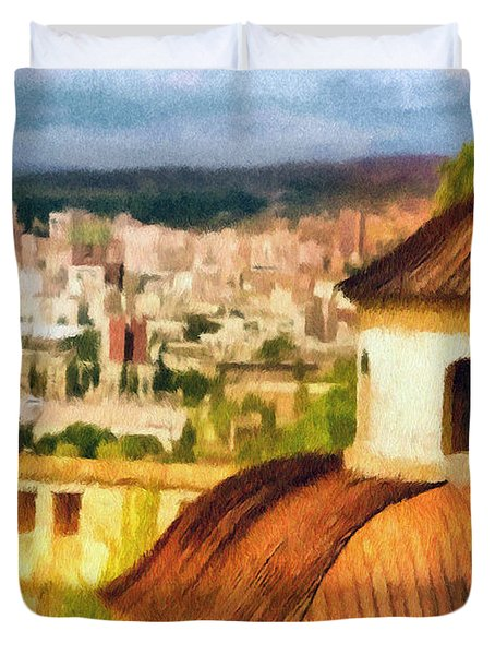 Pious Witness to the Passage of Time Duvet Cover by Jeff Kolker