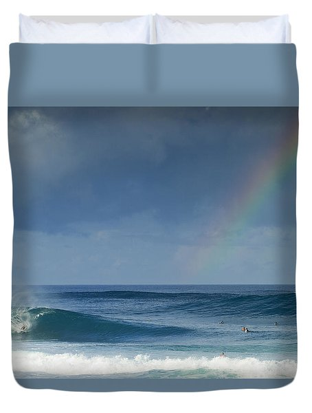 Pipe At The End Of The Rainbow Duvet Cover by Sean Davey
