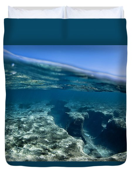 Pipe reef. Duvet Cover by Sean Davey