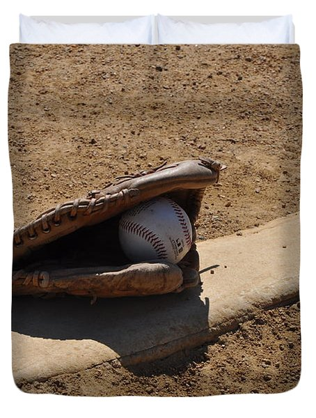 Pitchers Mound Duvet Cover by Bill Cannon