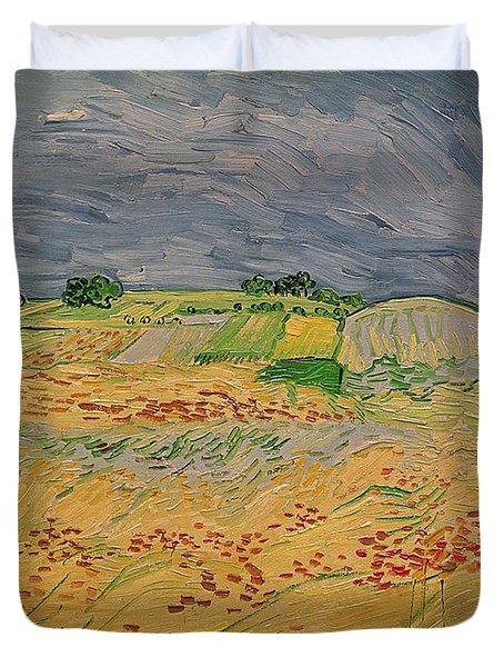 Plain At Auvers Duvet Cover by Vincent Van Gogh