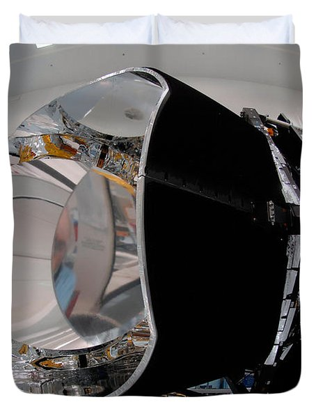 Duvet Cover featuring the photograph Planck Space Observatory Before Launch by Science Source
