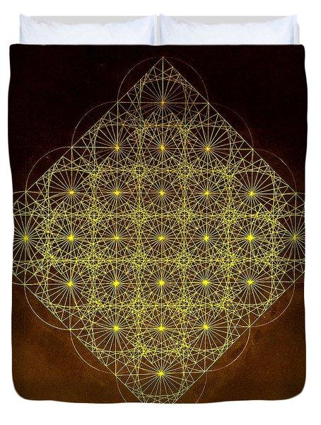 Planck Space Time  Duvet Cover by Jason Padgett