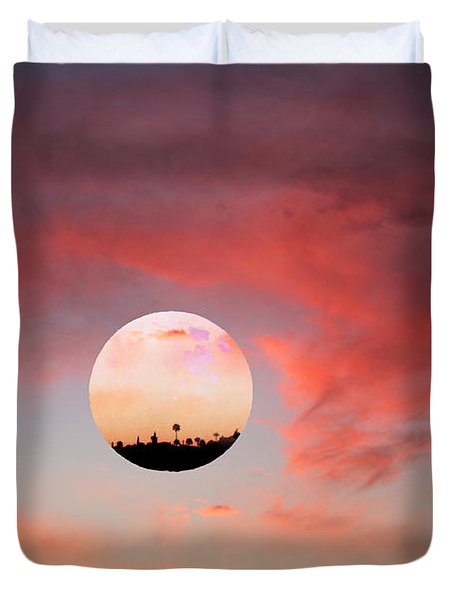 Planet and Sunset Duvet Cover by Augusta Stylianou