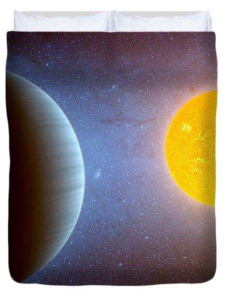 Planet Kepler10 Stellar Family Portrait Duvet Cover by Movie Poster Prints