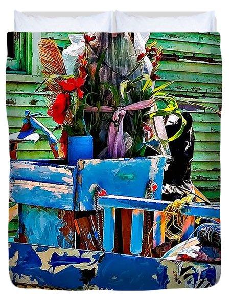 Plastic Jesus Duvet Cover by Steve Harrington