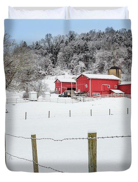 Platt Farm Duvet Cover by Bill  Wakeley