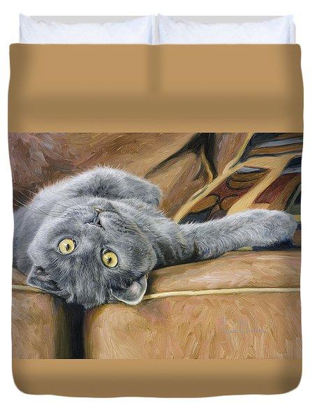 Playful Duvet Cover by Lucie Bilodeau
