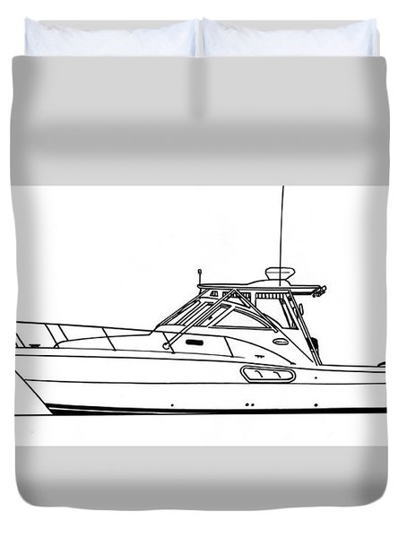 Pocket Yacht Profile Duvet Cover by Jack Pumphrey
