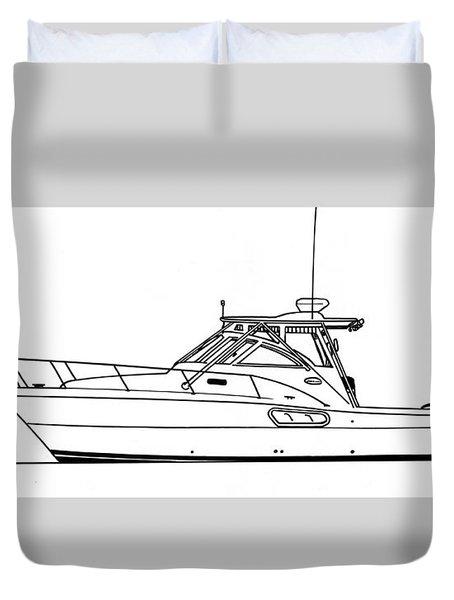 Pocket Yacht Profile Duvet Cover by Jack Pumphrey