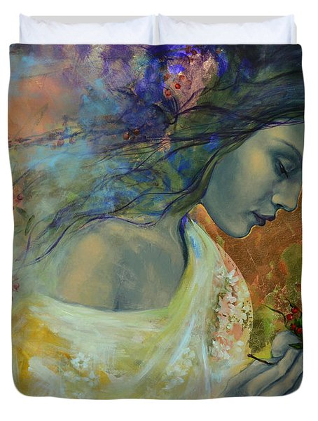 Poem At Twilight Duvet Cover by Dorina  Costras