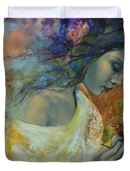 Poem at Twilight Duvet Cover by Dorina  Costras