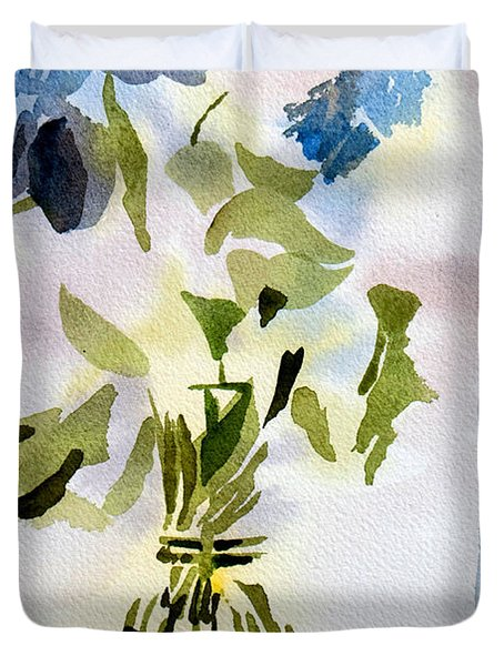 Poetry in the Window Duvet Cover by Kip DeVore