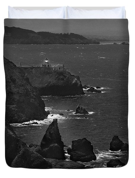 Point Bonita Light Duvet Cover by Mike McGlothlen