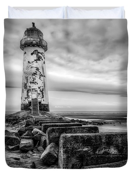 Point of Ayre Lighthouse Duvet Cover by Adrian Evans