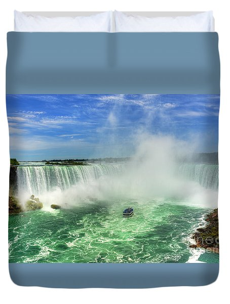 Point Of Land Cut In Two.. Duvet Cover by Nina Stavlund