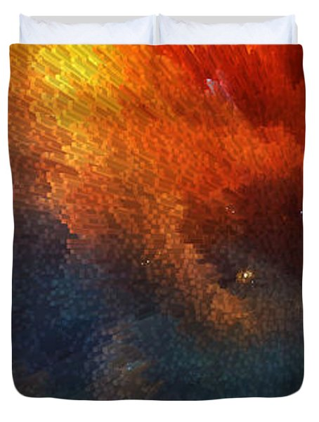 Points Of Light Abstract Art By Sharon Cummings Duvet Cover by Sharon Cummings