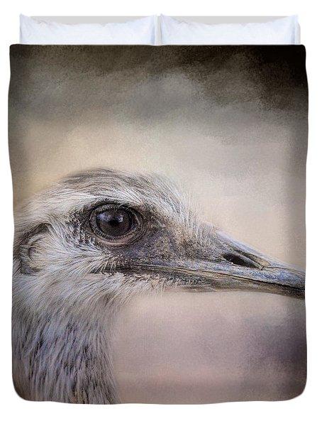 Poised - Ostrich - Wildlife Duvet Cover by Jai Johnson
