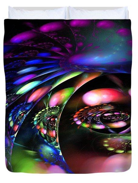 Polar Curve Duvet Cover by Kim Sy Ok