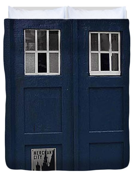 Police Phone Box Duvet Cover by Philip Ralley