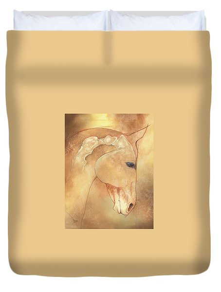 Poll Meet Atlas Axis Duvet Cover by Catherine Twomey