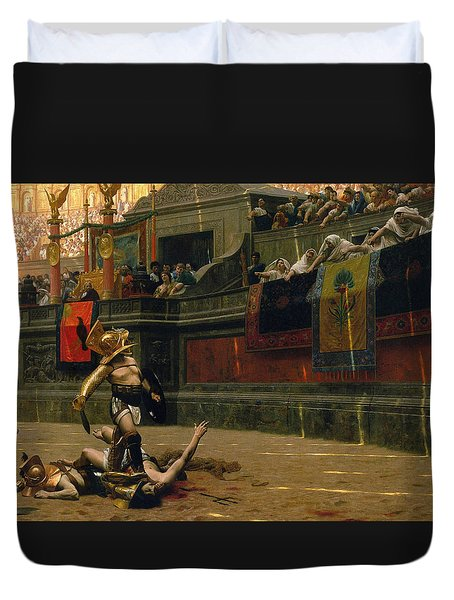 Pollice Verso Duvet Cover by War Is Hell Store