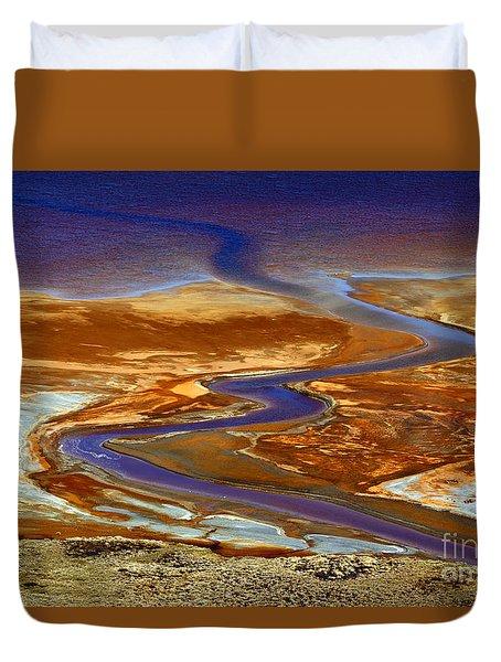 Pollution Duvet Cover by James Brunker