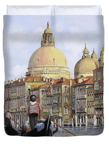 Pomeriggio A Venezia Duvet Cover by Guido Borelli