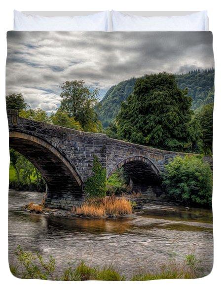 Pont Fawr 1636 Duvet Cover by Adrian Evans